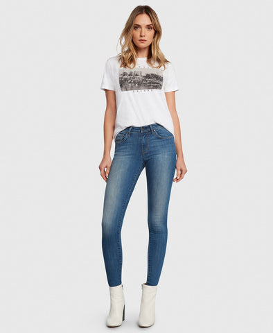 Principle denim-light blue wash Dreamer mid-rise skinny