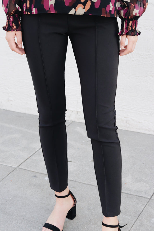 Black Side Zipper Pants