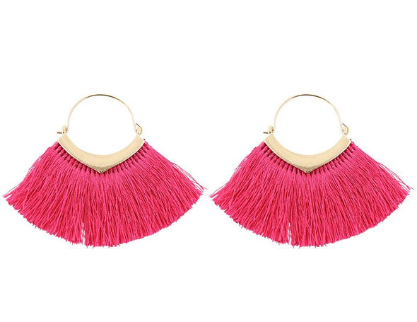 Pink Fringe Dolly Earring