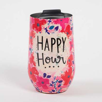 Natural life-happy hour wine tumbler