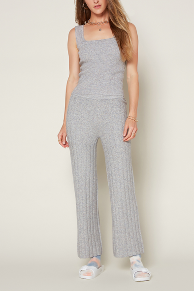 Malenge Flared Ribbed Knit Pants