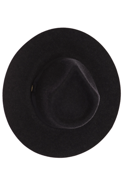 Ribbon Band Trim Wool Felt Panama Hat