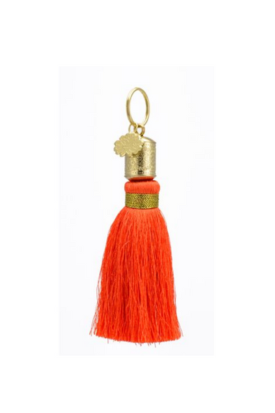 Orange Tassel Key Chain