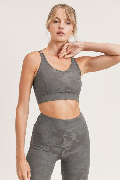 Textured Camo Jacquard Peekaboo Sports Bar