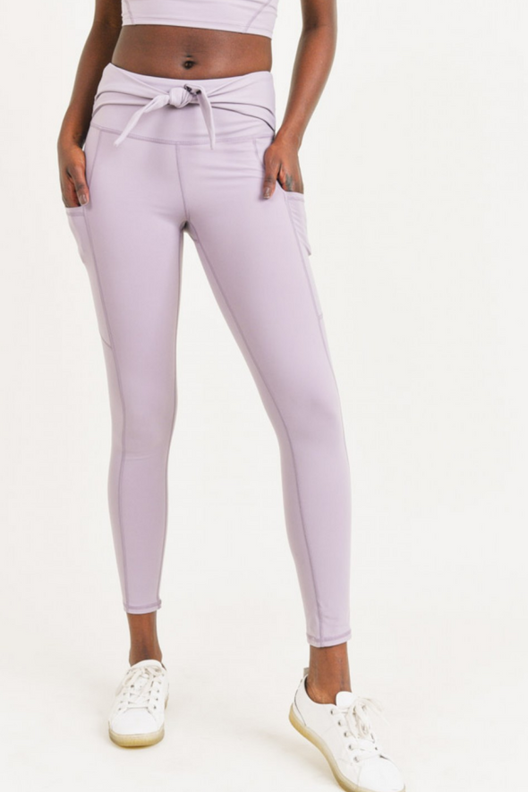Tie Front High Waist Leggings