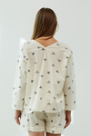Triangle Print Button Up Top