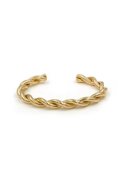 Gold  Metal Twisted Bangle Bracelet