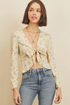 Buttercup Tie Front Top