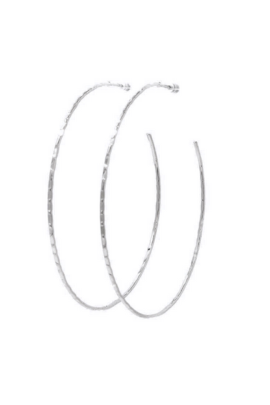 Textured Open Hoop Earring