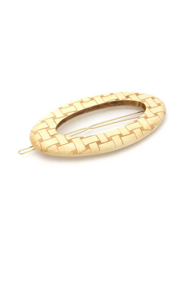 Wooden Oval Shape Hair Pin