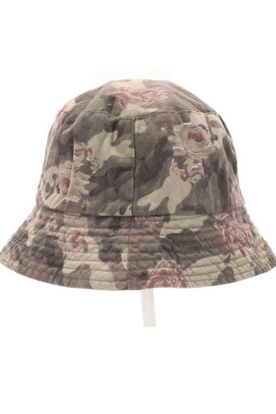 Floral Camouflage Reversible Bucket Hat