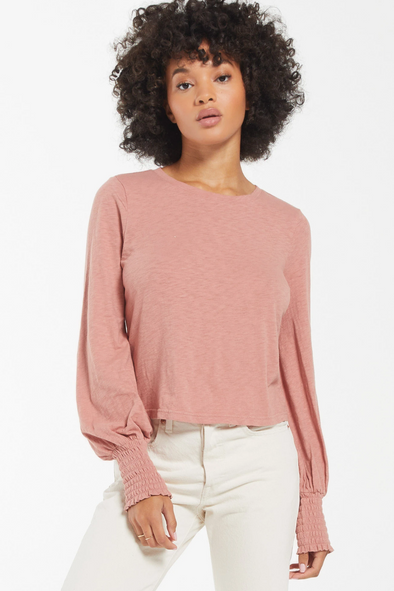 Lyla Slub Long sleeve Top