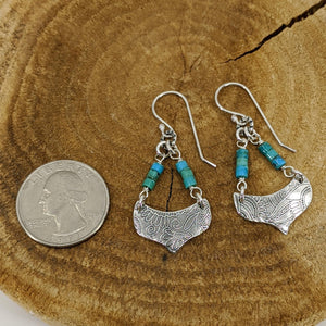 Sterling Silver Earrings with Turquoise