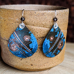 Copper Patina and Sterling Earrings,Earrings,Kristin Christopher