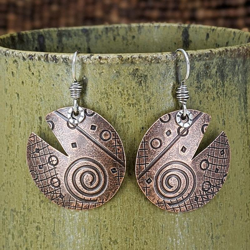 Copper and Sterling Silver Earrings,Earrings,Kristin Christopher