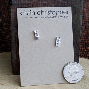 Sterling Silver Stud Earrings - Rectangle Bars,Earrings,Kristin Christopher
