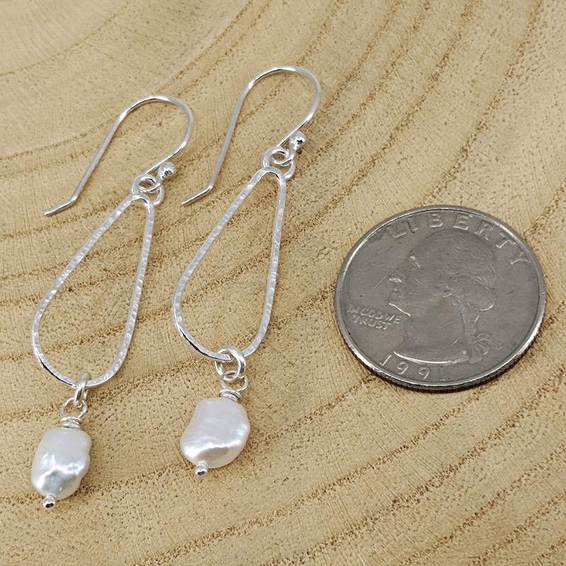 Sterling Silver Hoop Earrings with Pearls,Earrings,Kristin Christopher
