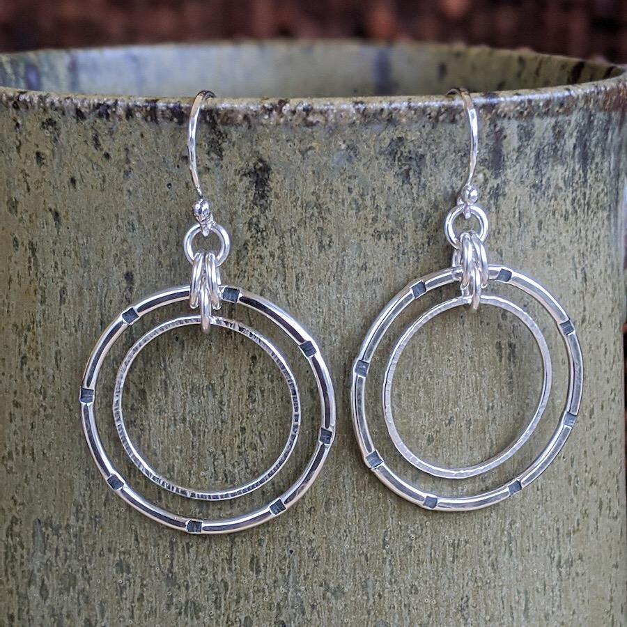 Sterling Silver Double Hoop Earrings - Medium,Earrings,Kristin Christopher