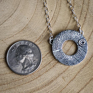 Sterling Circle Necklace,Pendant,Kristin Christopher