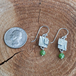 Sterling Silver Earrings with Jade,Earrings,Kristin Christopher