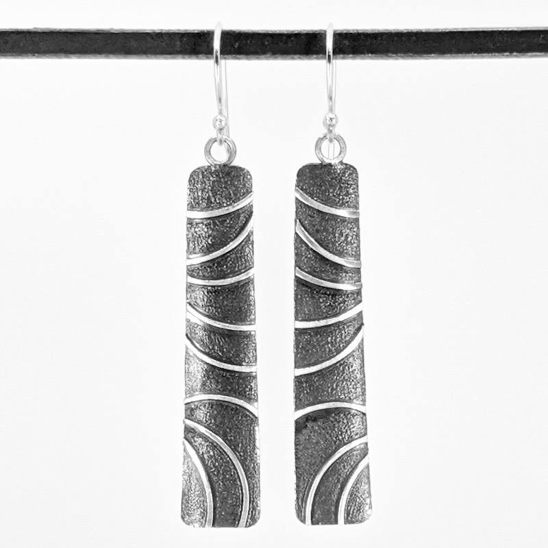 Sterling Silver Earrings with Patina,Earrings,Kristin Christopher