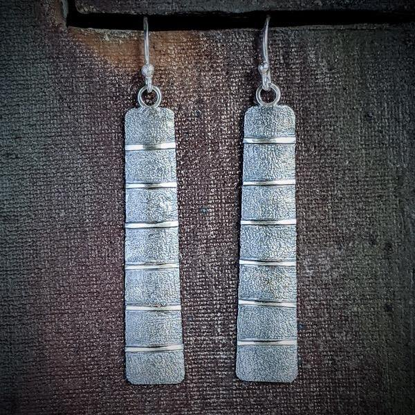 Sterling Silver and Patina Earrings,Earrings,Kristin Christopher