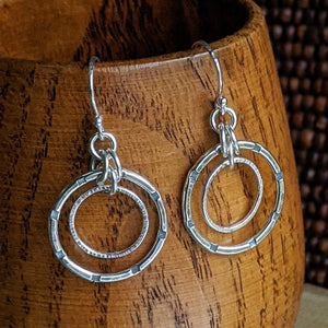Sterling Silver Double Hoop Earrings - Small,Earrings,Kristin Christopher