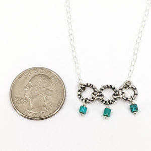 Sterling Silver Necklace with Turquoise