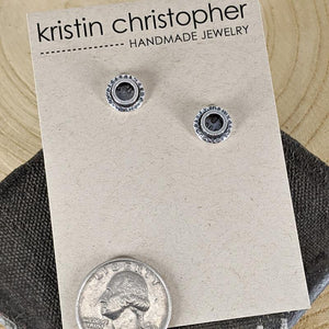 Sterling and Patina Stud Earrings,Earrings,Kristin Christopher
