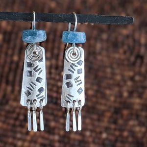 Sterling Silver Earrings with Aquamarine,Earrings,Kristin Christopher