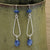 Sterling Silver Hoop Earrings with Kyanite