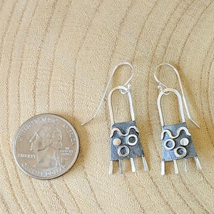 Sterling and Patina Earrings,Earrings,Kristin Christopher - Handmade Jewelry