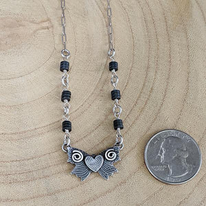 Mantra - Sterling Silver Necklace with Hematite,Pendant,Kristin Christopher