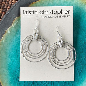 Sterling Silver Orbit Earrings,Earrings,Kristin Christopher - Handmade Jewelry