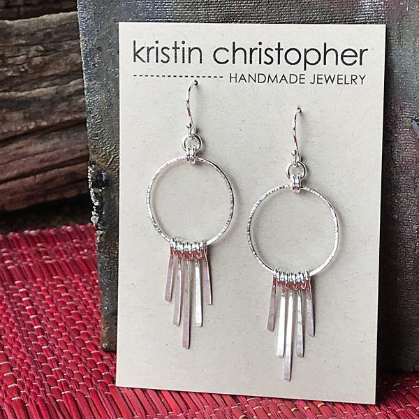 Sterling Fringe Hoop Earrings,Earrings,Kristin Christopher