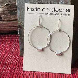 Sterling Silver Hoop Earrings,Earrings,Kristin Christopher - Handmade Jewelry