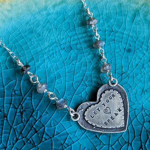 Let Your Heart Speak Sterling Silver Reversible Necklace,Pendant,Kristin Christopher