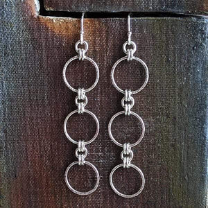 Sterling Triple Hoop Earrings,Earrings,Kristin Christopher - Handmade Jewelry