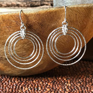 Sterling Silver Orbit Earrings,Earrings,Kristin Christopher