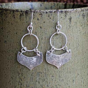 Sterling Silver Hoop Earrings - Lotus Petal - Small,Earrings,Kristin Christopher