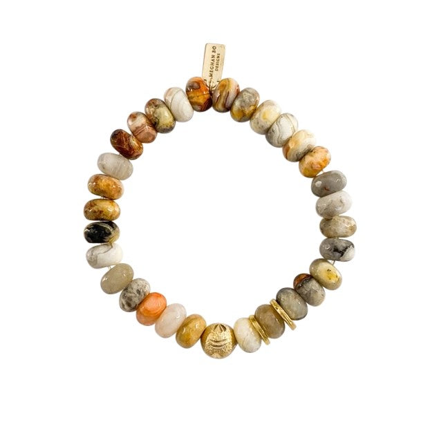 Aquatic Agate Beaded Bracelet - meghan-bo-designs