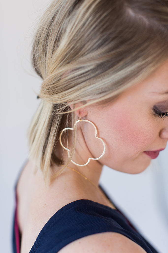 Gold Quatrefoil Earrings | 3 Sizes - meghan-bo-designs