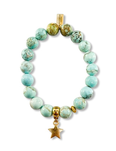 Seafoam Star Beaded Bracelet - meghan-bo-designs
