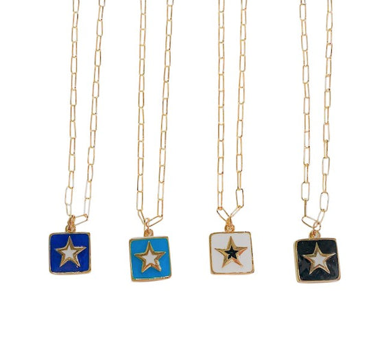 Square Star Necklace
