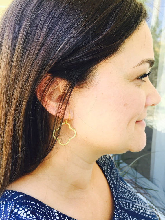 Gold Quatrefoil Earrings | 3 Sizes