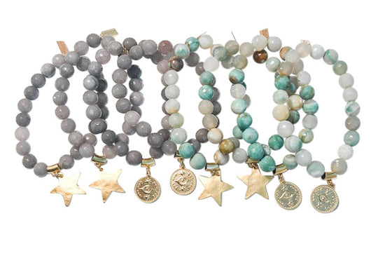 Mystic Collection Beaded Stretch Bracelets - meghan-bo-designs