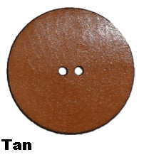 "2"" Leather Button - Tan"