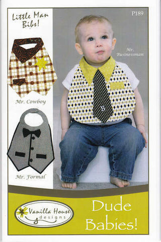Dude Babies Little Man Bibs P189