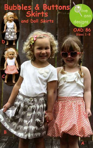 Bubbles & Buttons Skirts - OAD86