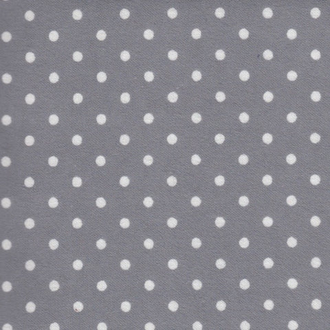 AP-Dots Grey/White #454 Flannel